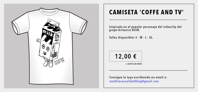 camiseta blur coffee tv maldita casualidad